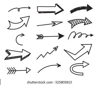Arrow doodle background