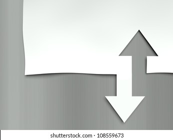 Arrow up and down, concept of differences