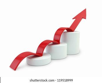 Arrow on chart