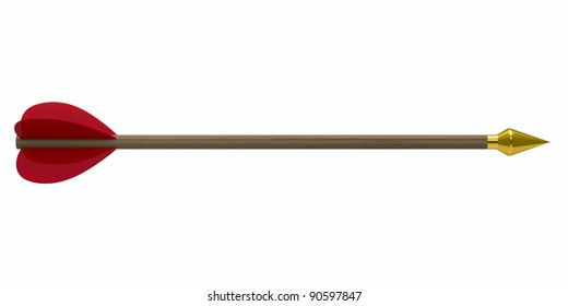 Arrow on white background. Isolated 3D image