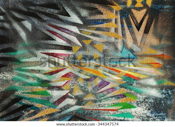 Art Abstract Background Handmade Airbrush Color Royalty