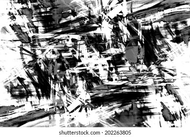 art abstract black and white pattern background in the style of old grunge graphics