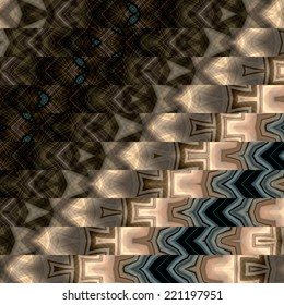 art abstract geometric horizontal stripes pattern background in black, beige and grey colors; vertical seamless ornament