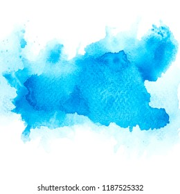 art blue watercolor background.space