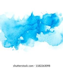 art brush blue watercolor.color shades beautiful image
