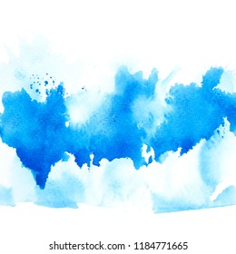 art brush blue watercolor.color shades beautiful image