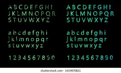 art colorful metal art set alphabet