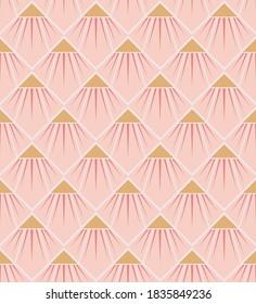 Art deco inspired flower in Light Pink