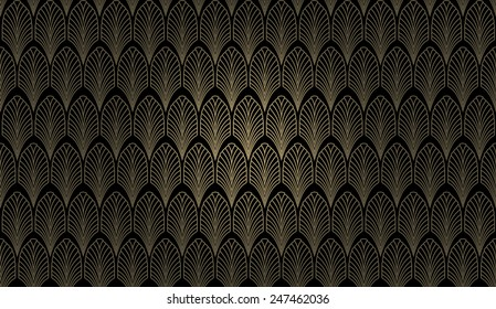 art deco styled wallpaper pattern 260nw 247462036