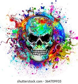 Art evil skull