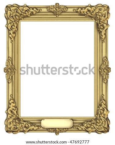 Art Frame Award Plaque Blank Isolated Stock Illustration 47692777 ...