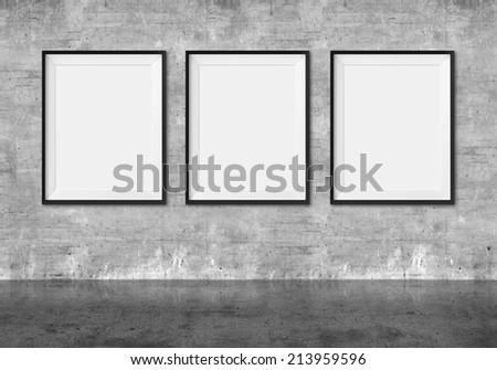 Art Gallery Blank Picture Frames On Stock Illustration 213959596 ...