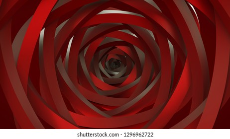 The art of geometric circles. It consists of natural spiral turns. 3D Rendering.