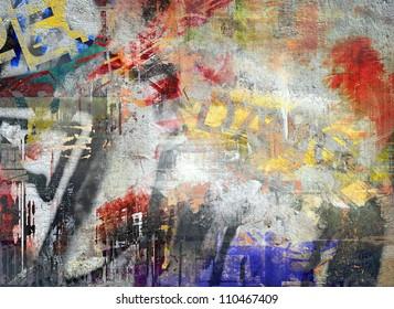 Art grunge background, color illustration