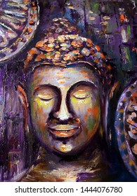 Art painting Acrylic color Buddha statue