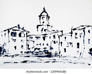 Art painting of the St Tropez