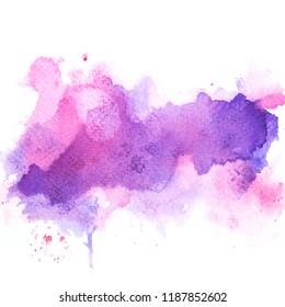 art purple watercolor background.