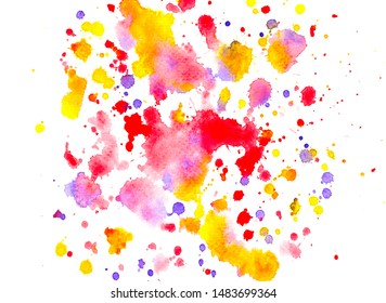 art splash drip colorful on paper.abstract watercolor background.image