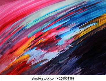 Art therapy or Colorful lines background, Creative artwork, background