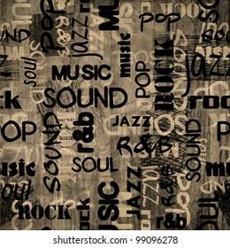 art urban music graffiti raster monochrome background in black, grey and white colors