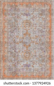 art vintage, traditional classical carpet, rug pattern design / distressed texture background /İkat, tie dye texture  modern  floor