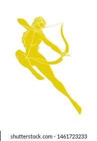 Artemis or Diana goddess of hunting
