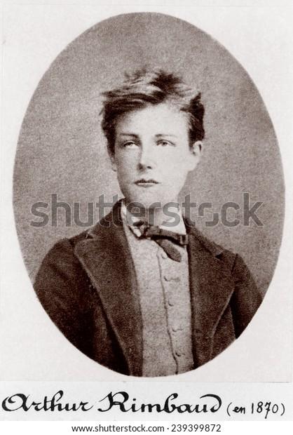 Arthur Rimbaud (1954-1891), poeta francés imprudente y rebelde, 1870.