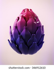 Artichoke isolated on white. 3d.