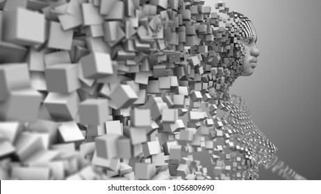 Artificial intelligence AI deep learning computer program technology also known as machine intelligence (MI) is intelligence exhibited by machines. 3D render