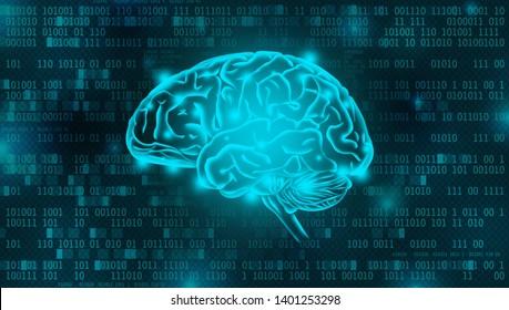 Artificial Intelligence digital background concept
