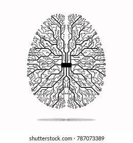 Artificial Intelligence iconic illustration