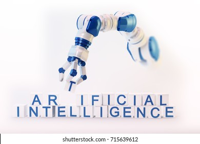 Artificial intelligence and machine learning - concept 3D illustration