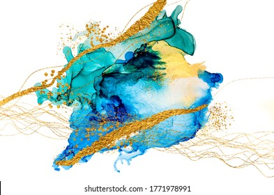 Art&Ink. Beauty is made up of many factors, including shape, form, color, and contrast, that work together to bring delight to the eyes and refreshment to the soul. Masterpiece of designing art. Gold.
