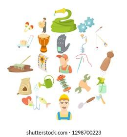 Artisanal icons set. Cartoon set of 25 artisanal icons for web isolated on white background