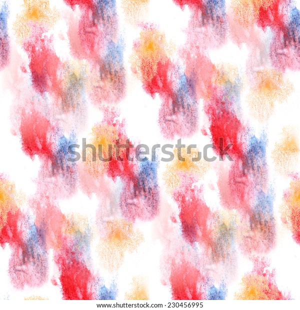 artist  blue, red, yellow seamless watercolor wallpaper texture of handmade