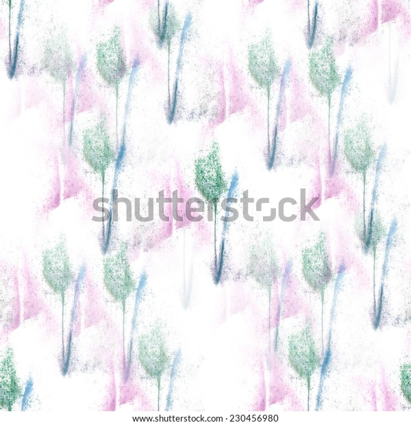 artist  blue, white, green, pink seamless watercolor wallpaper texture of handmade