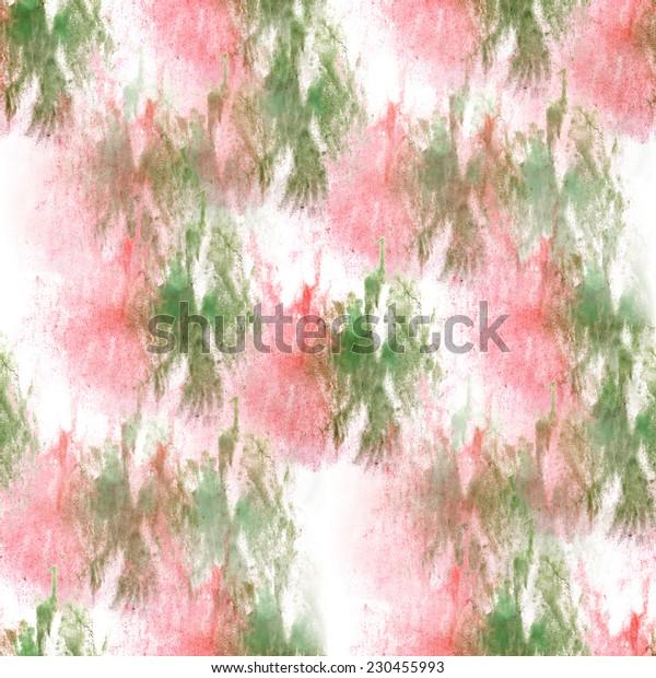 artist green, pink seamless watercolor wallpaper texture of handmade