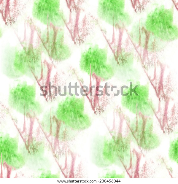 artist green, white, red seamless watercolor wallpaper texture of handmade