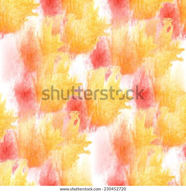 artist red, yellow seamless watercolor wallpaper texture of handmade