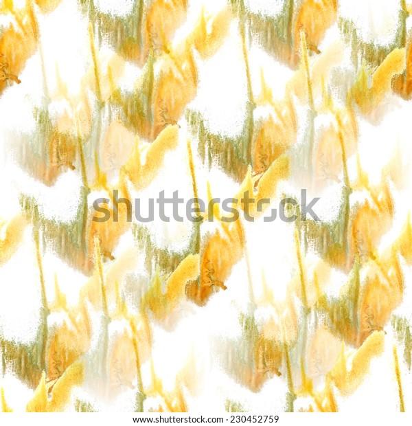 artist yellow, green, white seamless watercolor wallpaper texture of handmade
