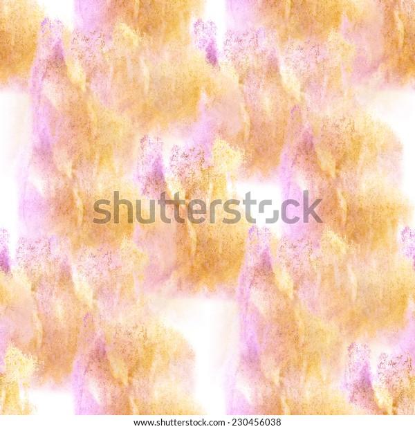 artist  yellow, lilac seamless watercolor wallpaper texture of handmade
