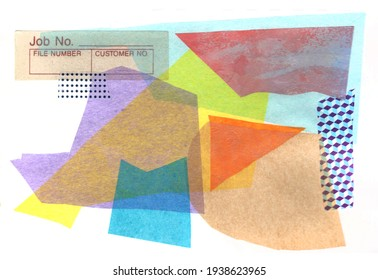 artistic background collage from grunge, tissue paper,  retro paper and different texture elements