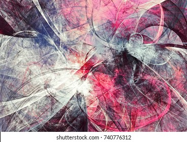 Artistic color motion composition. Abstract beautiful pink and grey background. Modern futuristic cool painting texture. Fractal artwork for creative graphic design.
