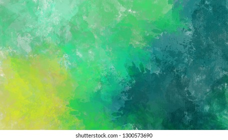 Artistic green abstract texture