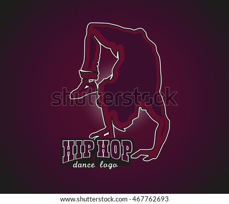 artistic hip hop dance logo breakdancingのイラスト素材 467762693