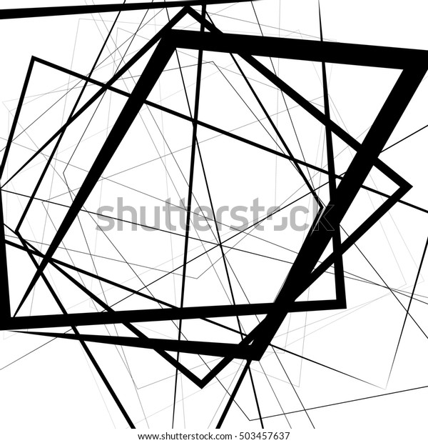 Artistic illustration with stressful random, irregular lines. Geometric art.