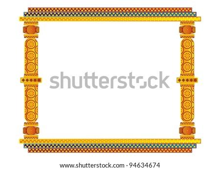 Artistic Indian Classical Horizontal Golden Photo Stock Illustration ...