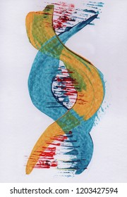 c987090e Artistic paint of DNA chain. DNA concept for t-shirt designs, book covers