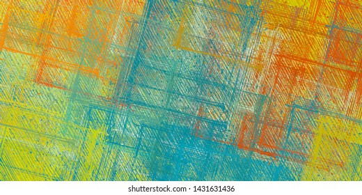 Artistic sketch backdrop material. Abstract geometric pattern. Chaos and random. Modern art drawing painting. 2d illustration. Digital texture wallpaper.