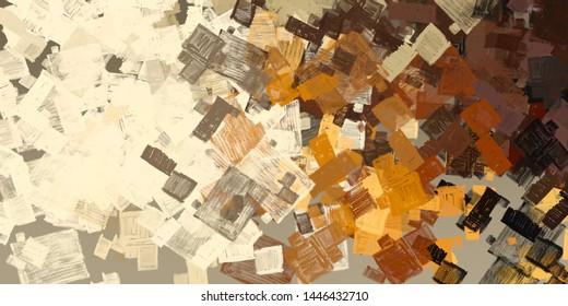 Kunsthandwerkstoff für Skizzen. Abstraktes geometrisches Muster. Chaos und Zufall. Modernes Malerei. 2. Abbildung. Digitales Hintergrundbild.